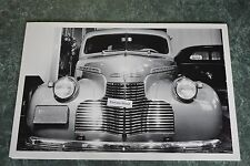 "1940 Chevrolet Master 85 Sedan Front View  12 X 18"" Black & White Picture"