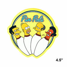 STICKER - The Simpsons Pin Pals Bowling Team Homer Decal  SB02