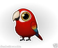 Cute Fat Bird Macaw Sticker decal car laptop