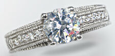 1.5 ct Artisan Carved Ring Russian Quality CZ Imitation Moissanite Simulant 6