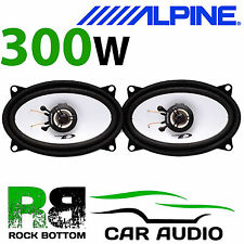 "ALPINE VW Golf MK1 1974-1984 4x6"" 10x15cm 2 way 300W Car Coaxial Rear Speakers"