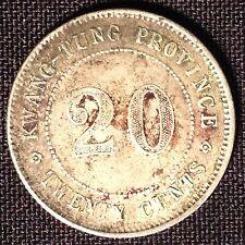 1912-1920 China Kwang-Tung Province 20 Cent VF