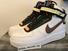 NIKE AIR FORCE 1 MID SP TISCI WHITE US 10.5 UK 9.5 44.5 VACHETTA BLACK HI ONE RT