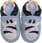 shoeszoo soft sole leather toddler shoes zebra silver grey 2-3y S