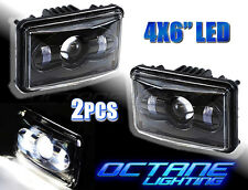 "4X6"" Black LED HID CREE Daymaker Light Clear Sealed Beam Headlamp Headlight Pair"