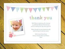 40 Personalised Thank you notes Childrens Baby girl boy invitations