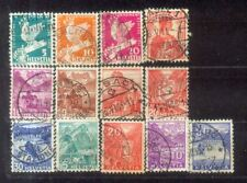 Switzerland Helvetia small Used Stamps Lot  8