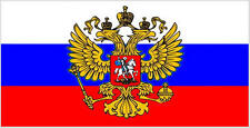 Russia Russian (Crest) 3' X 2' 3ft x 2ft Flag With Eyelets Premium Quality