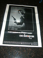 "THE ENFORCER, CLINT EASTWOOD, 1sh Original Movie Poster 30"" x 40"", C6.5 Fine +"