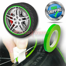 "FLUORESCENT GREEN 6mm 1/4"" Pin Stripe Wheel Rim SINGLE SOLID Line Vinyl STICKER"