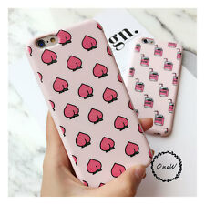 Cute Summer Pink Friut Peach Pattern Soft Silicone Case Cover for iPhone 6 6S