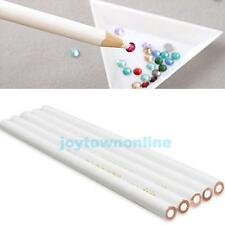 5Pcs Gem Crystal Rhinestones Picker Pencil Nail Art Craft Tool Wax Pick Up Pen J