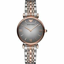 Nuevo EMPORIO ARMANI Dos Tonos de Acero Inoxidable Bar-GIANNI T Ladies Watch AR1725