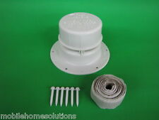 Roof Vent Cap Plastic Mobile Home RV Parts  White Ventline V2049  w/ install kit