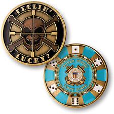 U.S. Coast Guard / Feelin Lucky - USCG Brass Challenge Coin