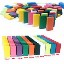 120PCS 12 Colors Authentic Standard Wooden Domino Run Board Children's Day Gift