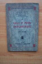 BIBLIOLOGIE II GRILLE ET PROFIL ENCYCLOPEDIQUES