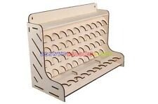 New Wooden Storage Rack For 50 Acrylic Tamiya Paint Mr Hobby Brush Color Plate