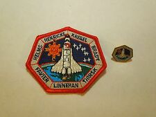 Lot of 2 NASA Space Shuttle Mission STS-78 Columbia Iron On Patch & Pin