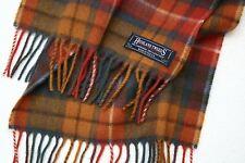 Highland Tweeds LONG LAMBSWOOL SCARF Antique Buchanan TARTAN CHECK British made