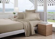 Sheridan Classic Percale 300TC Cotton King Bed sheet  Set in Husk RRP $299.95
