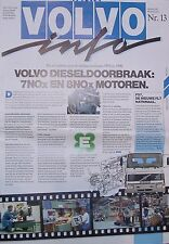 Volvo Info Nr. 13 10/91 NL  FL Geartronic Bus 7Nox 8No 1991 Nutzfahrzeug Sweden