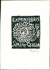 Szalay Csilla. (Romania)   Ex-libris  Bookplate QR1078