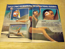 PUBBLICITA' ADVERTISING 1990 BROCHURE SANYO MACK P1 VIDEOREGISTRATORE (G18)