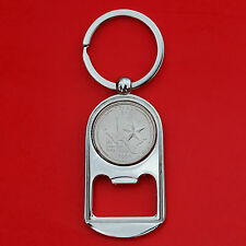 US 2004 Texas State Quarter BU Unc Coin Key Chain Ring Bottle Opener NEW
