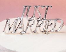 WILTON JUST MARRIED CAKE PICK WITH RHINESTONES-A GREAT ITEM FOR YOUR WEDDING