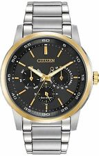New Citizen Men's Dress Eco Drive Two Tone Stainless Steel Watch BU2014-56E
