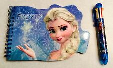 FROZEN ELSA NOTE PAD AND 8 MULITI COLORS PEN ***BRAND NEW***