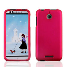 For htc Desire 510 PHONE PINK 2-PC RUBBERIZED HARD SKIN ACCESSORY CASE COVER