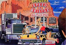 CP / POSTCARD / ILLUSTRATEUR / THE CAR / VOITURE / TRUCK STOP  PAR BERTRAND
