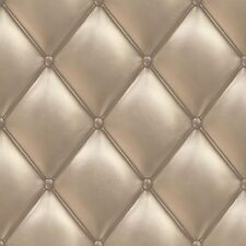 Wallpaper Grandeco Exposed leather chesterfield style 3D beige PE-01-02-3 (2,16£