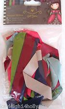 SANTORO LONDON~ASSORTED RIBBON PACK~10pcs~2 sizes 7 colours~CRAFT~CARDS~ART~
