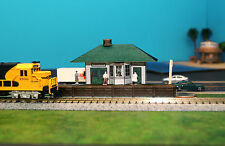 Small Passenger Train Station N Scale Building DIY Paper Cutout Kit