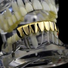 Bottom Grillz 8 Eight Tooth 14k Gold Plated Lower Teeth Slugs New Hip Hop Grills
