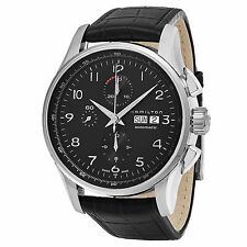Hamilton Men's Jazzmaster Chronograph Swiss Automatic Leather Watch H32716839