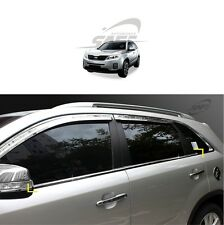 SAFE Window Door Belt Chrome Molding 4Pcs For KIA Sorento R 2009 2014