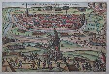 Belagerung von Steenwijk (Niederlande) von Hogenberg - Original um 1588
