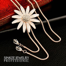 2017 New Sexy Big Flower Double Lines Long Pendant Women Necklace Chain My266
