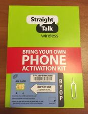 Straight Talk AT&T Nano SIM for iPhone 6s+, 6s, 6+, 6, 5s, 5c, 5 - 4G LTE + MMS