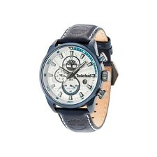 TIMBERLAND HENNIKER II NAVY MATTE MENS MULTIFUNCTION DUAL WATCH LEATHER STRAP