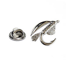 FLY Fishing Hook bavero pin badge regali per lui