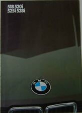 BMW 5-Series 1984 Original UK Market Foldout Sales Brochure 518 520i 525i 528i