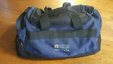 Nautica Latitude Longitude Sports Duffle Gym Bag 22X11X9 navy adjustable VTG 90s