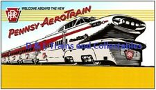 Reproduction of Plasticville Billboard RR Welcome Aboard New Pennsy Aerotrain