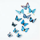 12Pcs Art Decal Girls Home Room Wall Stickers 3D Butterfly Decorations Decors