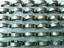 New 25PCs English The Serenity Prayer Stainless Steel Etching Polished Rings